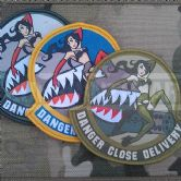 Mil-Spec Monkey Velcro Morale Patch Danger Close!